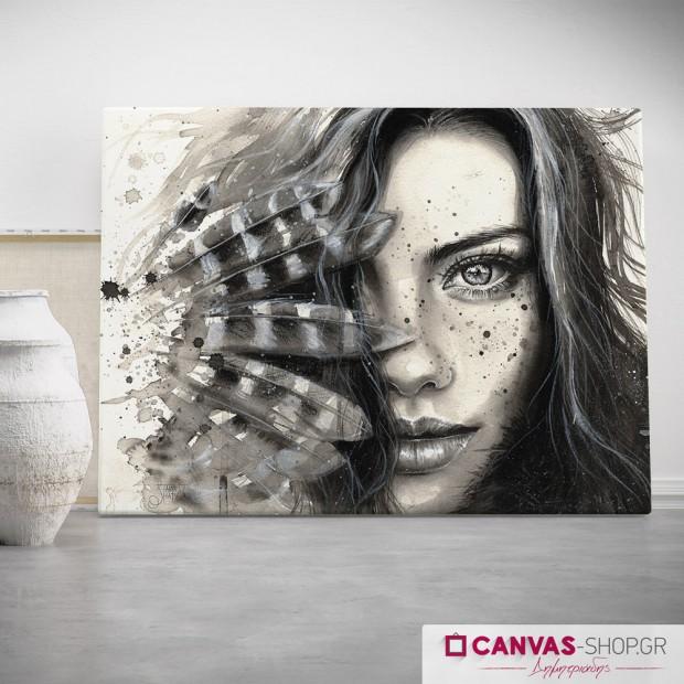 Γυναίκα πορτρέτο, πίνακας σε καμβά