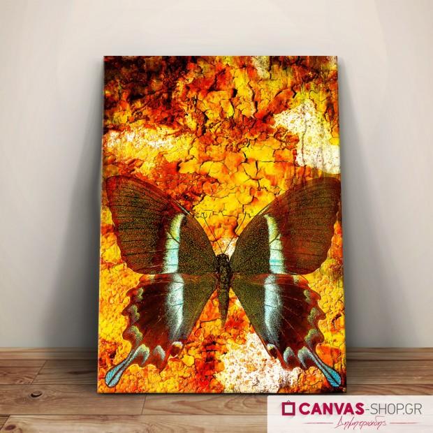 Πεταλούδα, πίνακας σε καμβά