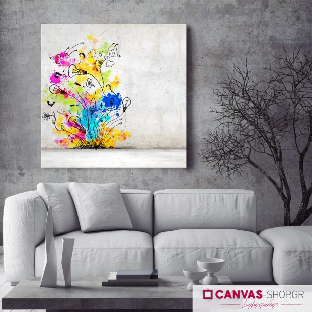 Αφηρημένη Τέχνη, πίνακας σε καμβά