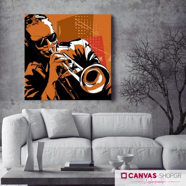 Μουσικός , πίνακας σε καμβά