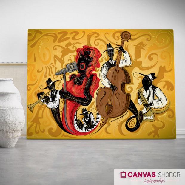 Μουσικοί , πίνακας σε καμβά