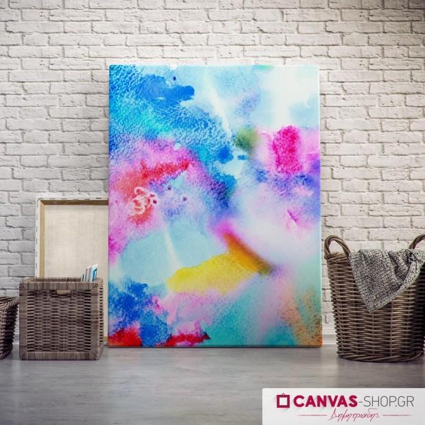 Πίνακας με Υδρόχρωμα, πίνακας σε καμβά