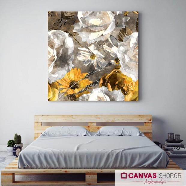 Πίνακας Λουλούδια, πίνακας σε καμβά
