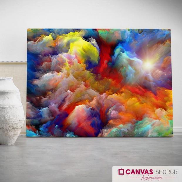 Χρωματιστά Σύννεφα, πίνακας σε καμβά