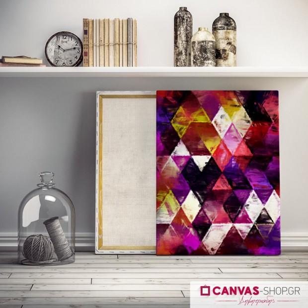 Χρωματιστοί Ρόμβοι , πίνακας σε καμβά