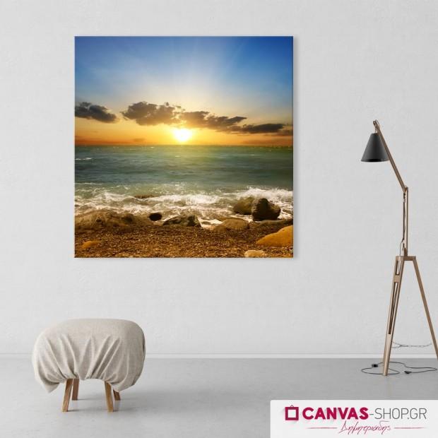 Ηλιοβασίλεμα στην Θάλασσα , πίνακας σε καμβά