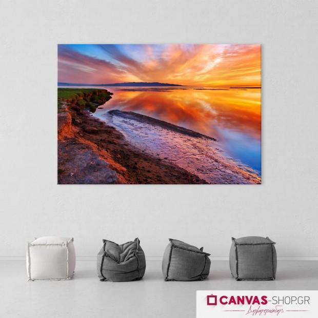 Ηλιοβασίλεμα στην Θάλασσα 2, πίνακας σε καμβά