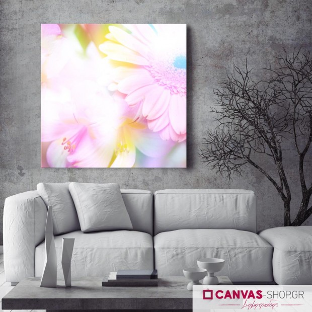 Όμορφα Λουλούδια , πίνακας σε καμβά