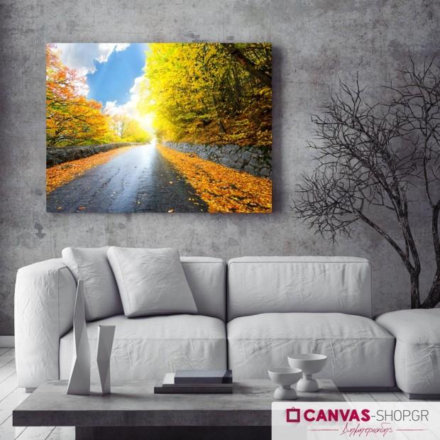 Φθινοπωρινός Δρόμος , πίνακας σε καμβά