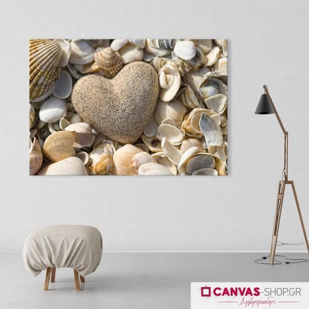 Πέτρα σε Σχήμα Καρδιάς, πίνακας σε καμβά