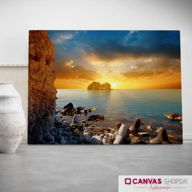 Ηλιοβασίλεμα στην Θάλασσα 3, πίνακας σε καμβά