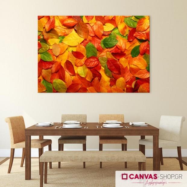Χρωματιστά Φύλλα , πίνακας σε καμβά