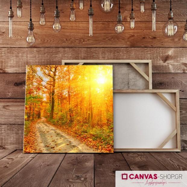 Φθινοπωρινό Ηλιοβασίλεμα , πίνακας σε καμβά