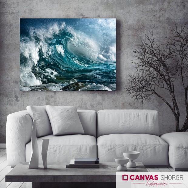 Τεράστια Κύματα , πίνακας σε καμβά