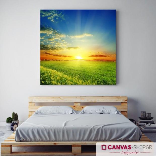 Ηλιοβασίλεμα, πίνακας σε καμβά