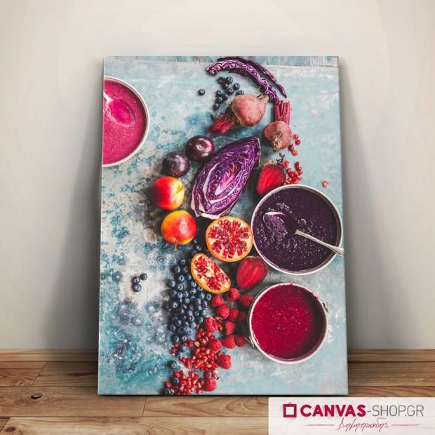 Φρούτα και Λαχανικά , πίνακας σε καμβά