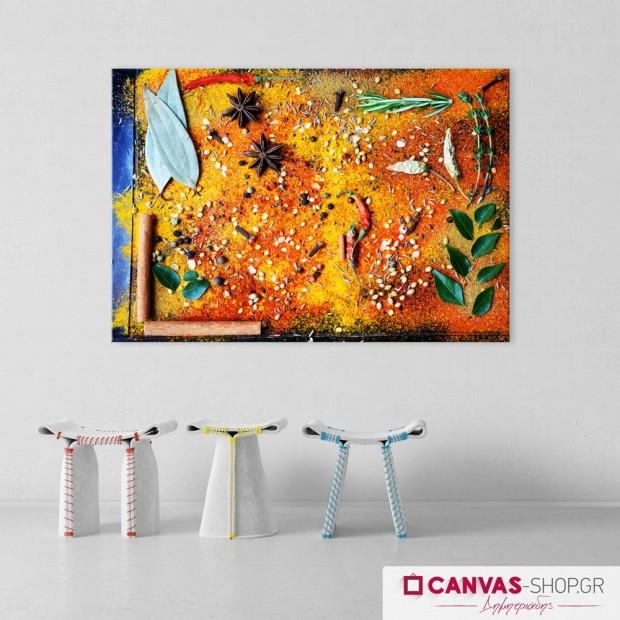 Πολύχρωμα Μυρωδικά , πίνακας σε καμβά