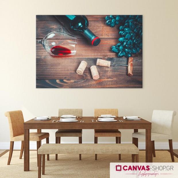 Κόκκινο Κρασί , πίνακας σε καμβά