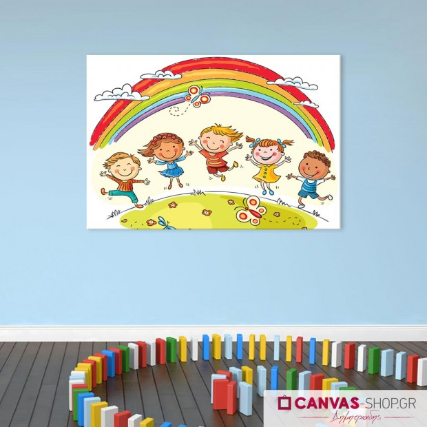 Χαρούμενα Παιδιά, πίνακας σε καμβά