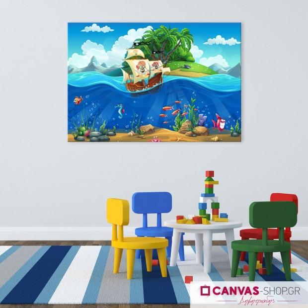 Πειρατικό Καράβι, πίνακας σε καμβά