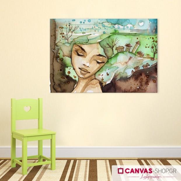 Νεράιδα στο Δάσος, πίνακας σε καμβά