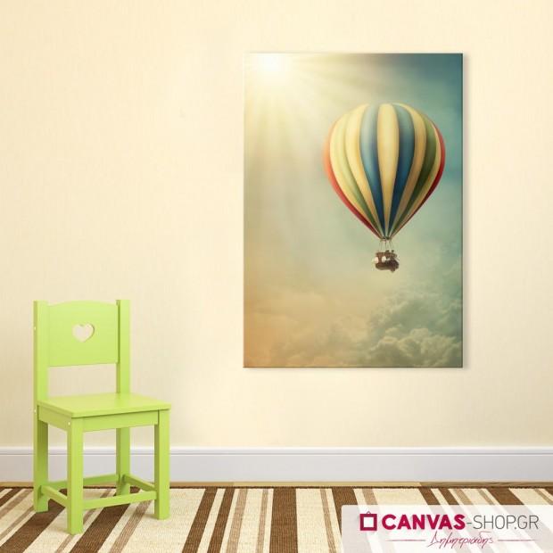 Αερόστατο, πίνακας σε καμβά