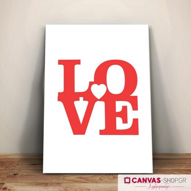 Love, πίνακας σε καμβά