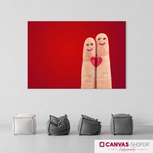 Χαμογελαστά Δάχτυλα, πίνακας σε καμβά