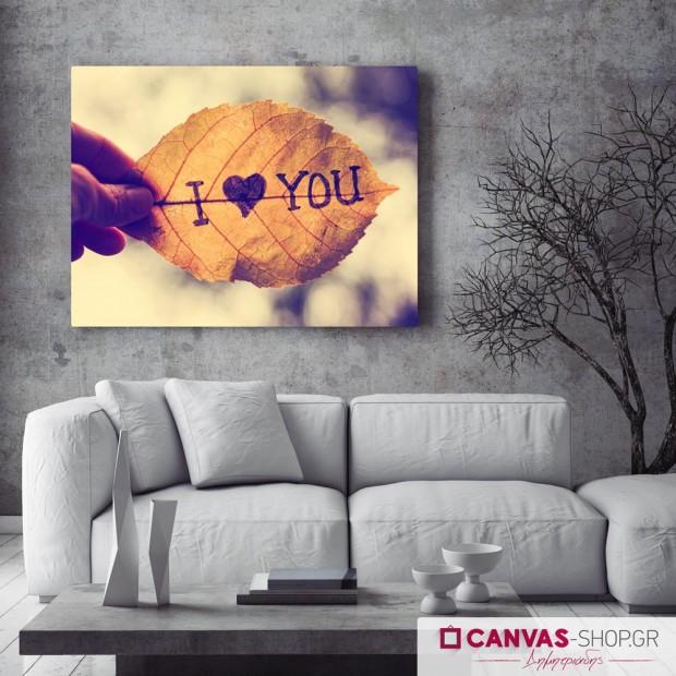 I Love You, πίνακας σε καμβά