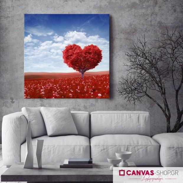 Δέντρο Αγάπης, πίνακας σε καμβά