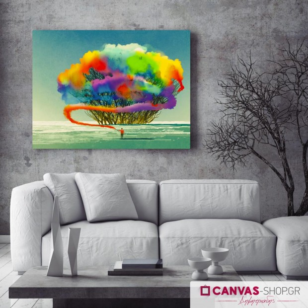 Χρωματίζοντας τα Όνειρα , πίνακας σε καμβά