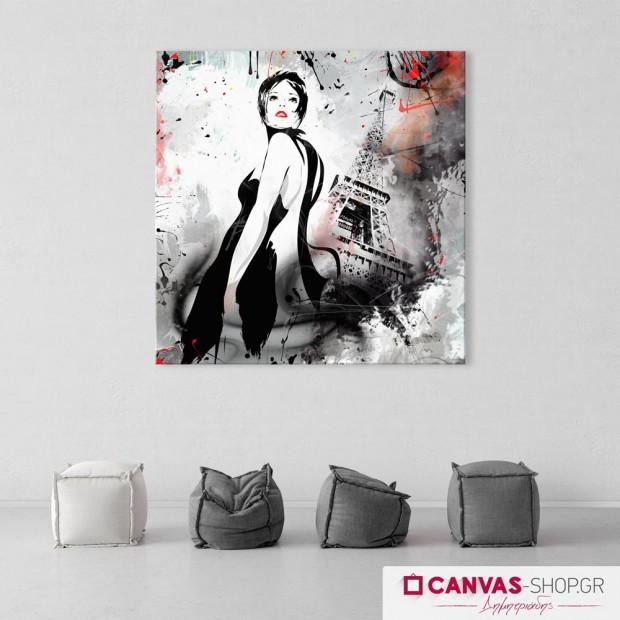 Γυναίκα στο Παρίσι , πίνακας σε καμβά