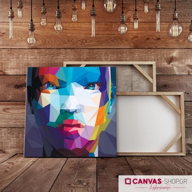 Πολύχρωμο Πρόσωπο , πίνακας σε καμβά
