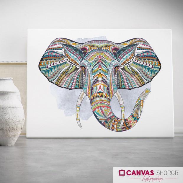Ethnic Elephant, πίνακας σε καμβά