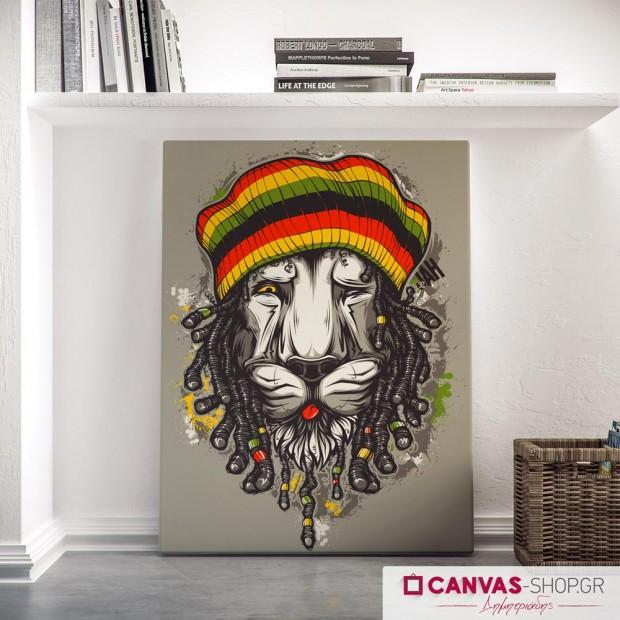 Jamaica Lion, πίνακας σε καμβά
