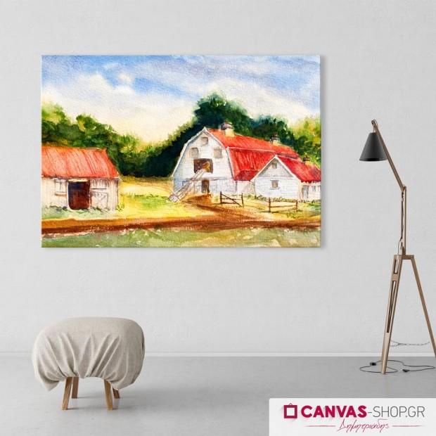 Σπίτι στο Δάσος, πίνακας σε καμβά