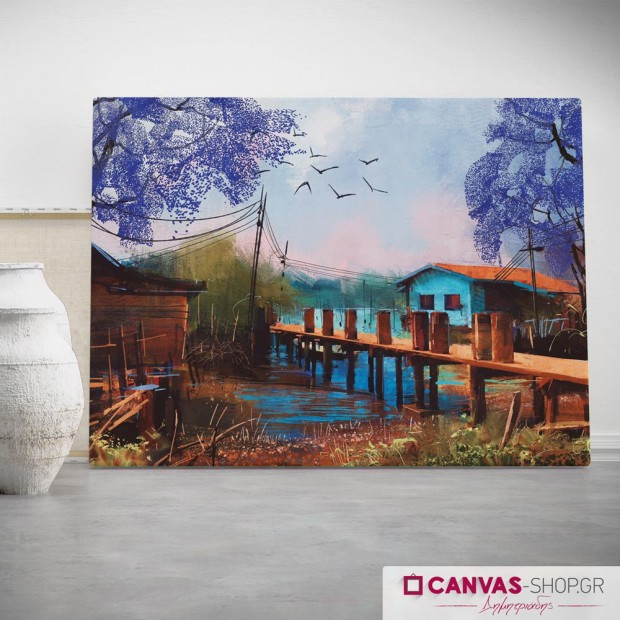 Γέφυρα, πίνακας σε καμβά