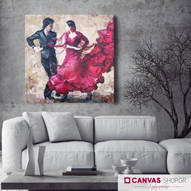 Χορευτές, πίνακας σε καμβά