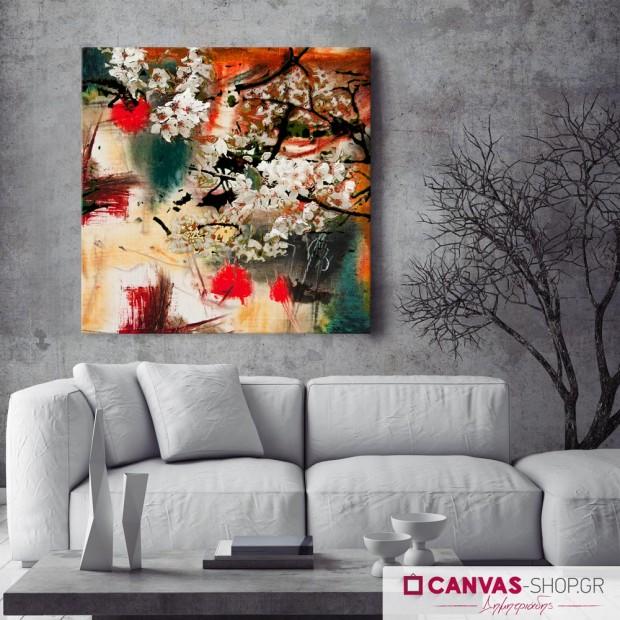 Λουλούδια, πίνακας σε καμβά