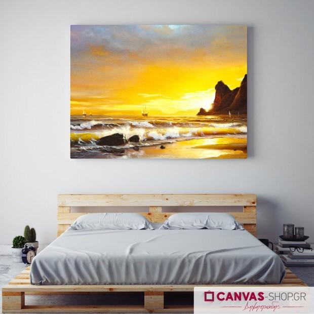 Θάλασσα, πίνακας σε καμβά