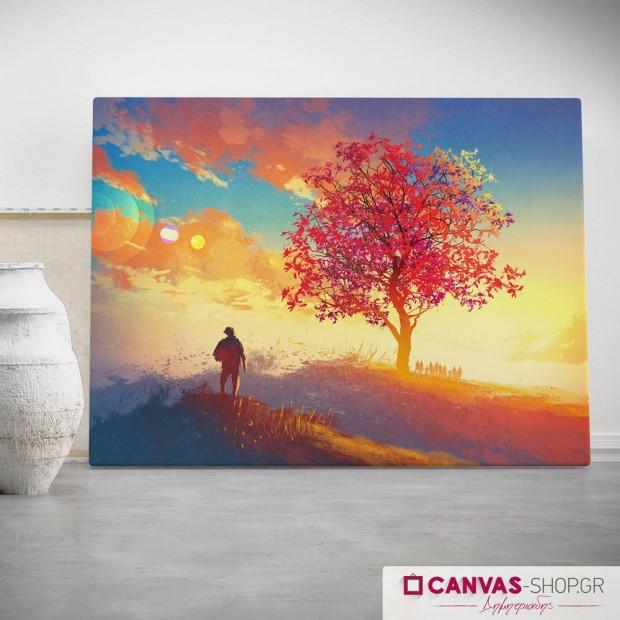 Δέντρο, πίνακας σε καμβά