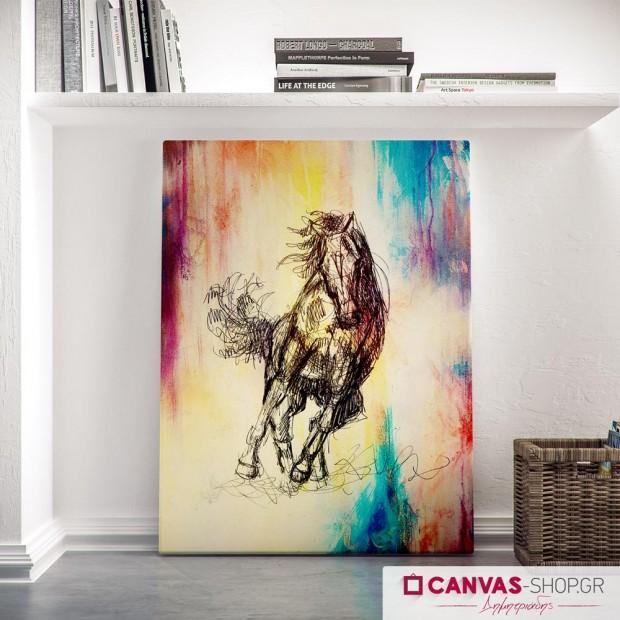Άλογο, πίνακας σε καμβά