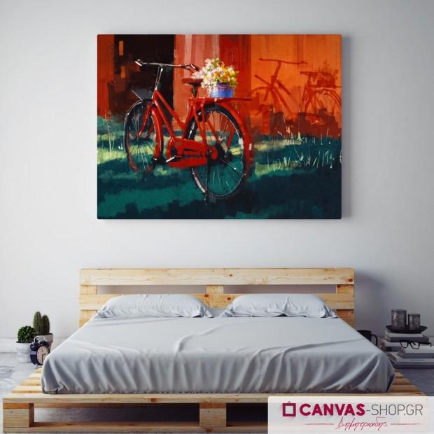 Ποδήλατο, πίνακας σε καμβά