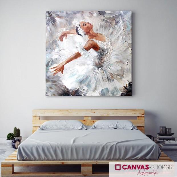 Μπαλαρίνα, πίνακας σε καμβά