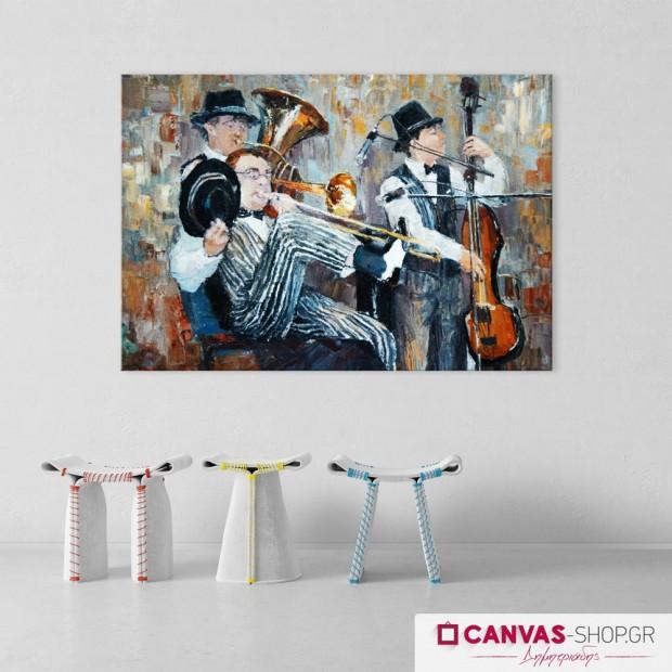 Μουσικοί, πίνακας σε καμβά