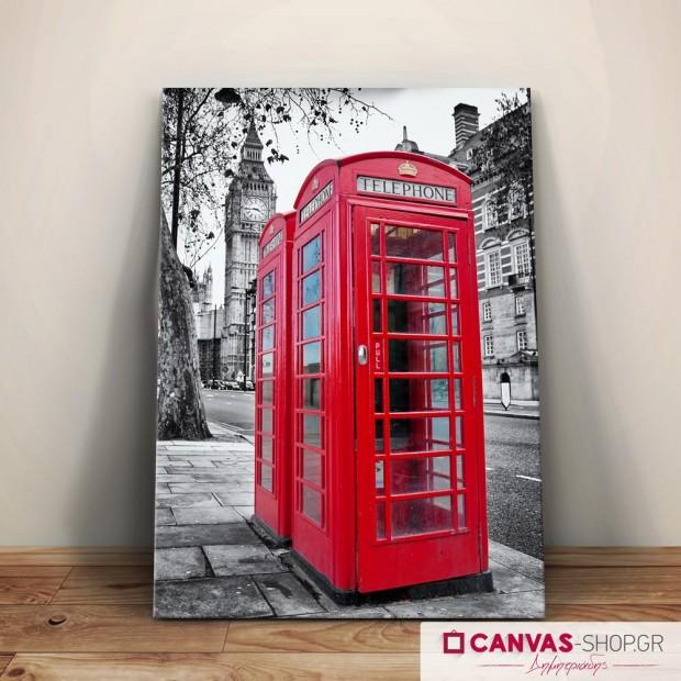 Τηλεφωνικός Θάλαμος Λονδίνο, πίνακας σε καμβά