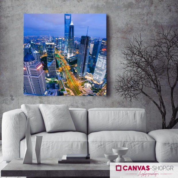 Ουρανοξύστες στη Σαγκάη, πίνακας σε καμβά