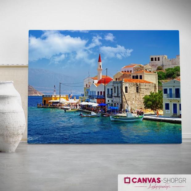 Ελληνικά Νησιά, πίνακας σε καμβά