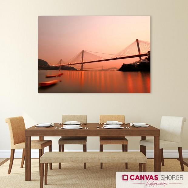Γέφυρα στο Χονγκ Κονγκ, πίνακας σε καμβά