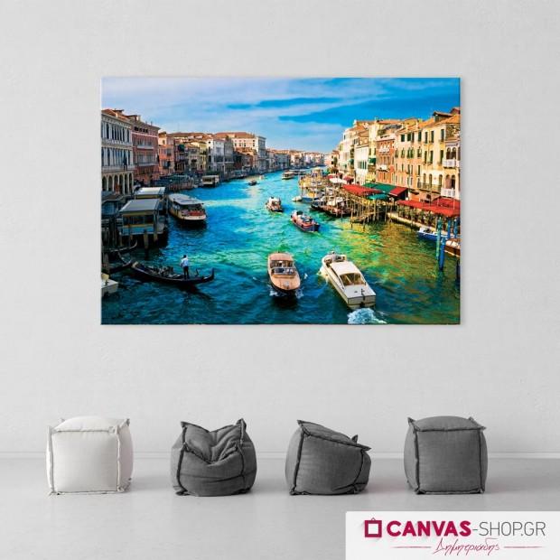Κανάλι στην Βενετία , πίνακας σε καμβά